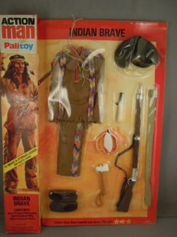 ACTION MAN - INDIAN BRAVE Uniform - CARDED UNOPENED